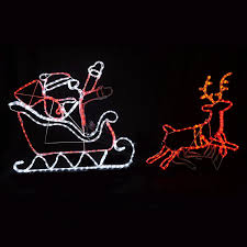 collection of outdoor lights reindeer and sleigh