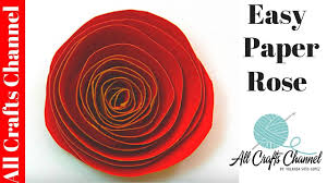 Make Easy Paper Flower How To Make An Easy Paper Rose