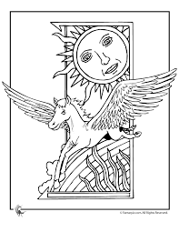 Awesome Pegasus Coloring Page Unicorn Pages Woo Jr Kids Activities