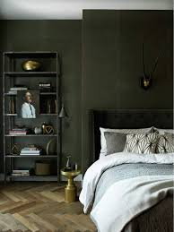 green bedroom furniture. Dark Green Bedroom Walls In A Moody Masculine Soho Loft Via @thouswellblog Furniture R
