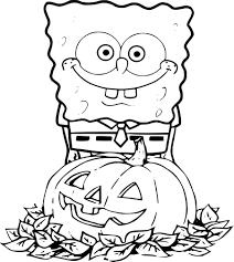 Coloriage Bob L Ponge Halloween Imprimer
