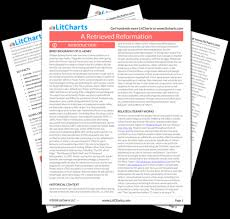 A Retrieved Reformation Summary Analysis From Litcharts