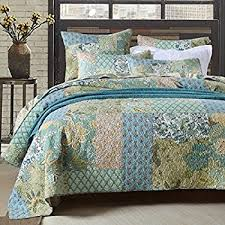 Amazon.com: NEWLAKE Striped Classical Cotton 3-Piece Patchwork ... & Retro Comforter Set Floral Paisley Printed Pattern 100 Cotton Patchwork  Bedspreads Quilt Sets Queen Size Adamdwight.com