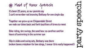 maid of honor speech poem idea | Wedding | Pinterest