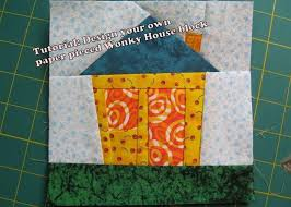 wonky fabric house patterns | ... house paper piecing quilt block ... & wonky fabric house patterns | ... house paper piecing quilt block pattern  pdf 016a Adamdwight.com