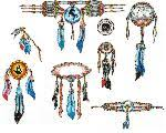 Motiv Tetování Indiánský Western 519