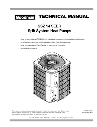 Goodman Subcooling Chart Goodman Technical Manual Manualzz Com