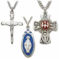 catholic jewelry patron saint medals crucifix necklaces truefaithjewelry