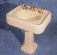 antique white sink