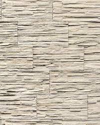 stone natural textured wallcovering wallpaper wall vinyl modern 1003 33 brick decor washable beige white grey