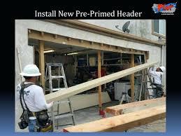 installing a new garage door replace garage door header installing garage door threshold seal