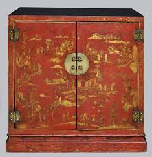 red lacquered furniture. Period Chinese Red Lacquered \u0026 Gilded Cabinet, 18th Century Furniture E