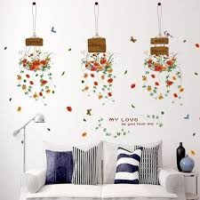 Home Decoration Accessories Wall Art Amazing Hot Sale Zs Sticker Potted Plants Stickers Wall Stickers Home