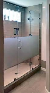 etched glass shower enclosure doors custom