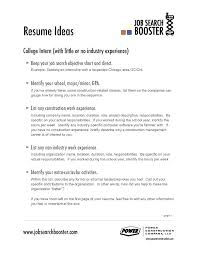 Examples Of Career Objective For Resume Best Resumes Letters Etc ...