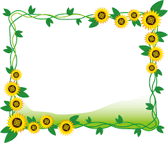 フリーイラスト ひまわりの花と葉の飾り枠でアハ体験 Gahag 著作権