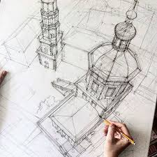 architectural hand drawings. Contemporary Hand Architecture Student Revives The Magic Of Architectural Hand Sketching  Through These Marvelous Sketches For Drawings