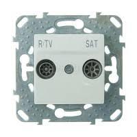 <b>Розетка TV</b>-<b>R</b>-<b>SAT</b> оконечная с накладкой Альпийский белый ...