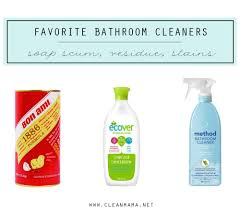 favorite bathroom cleaners for soap s residue and stains via clean mama