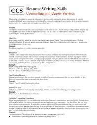 Writing Skills On Resume Resume Writing Tip Skills Summary