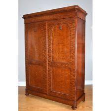 english antique armoire antique. Fine Mouchette Mahogany English Victorian Era William IV Linen Press Armoire Antique