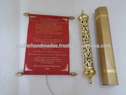 Scroll Wedding Invite Royal Scroll Wedding Invitations With Engraved Gold Boxes For