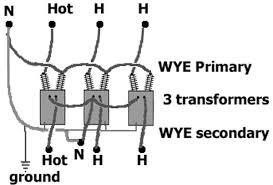 how to identify transformer wiring Wye Wye Transformer Connection Diagrams wye wye 1 supply wire connects to one transformer wye wye transformer wiring diagram