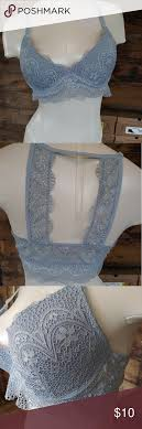 True By Rue21 Lace Bra Beautiful Icy Blue Floral Lace True