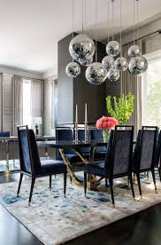 ... Dining Room Ideas, Awesome Dark Blue Rectangle Modern Leather Dining  Room Rug Stained Design: ...