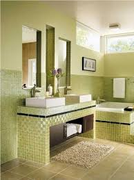 captivating green bathroom. Soft Green Ceramic Wall Tile Ideas For Small Bathrooms With Shaggy Rug And Beige Floor Design Captivating Bathroom