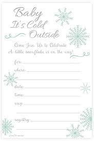 Snowflake Baby Shower Invitations Amazon Com Winter Snowflake Baby Shower Invitations Baby Its Cold