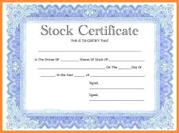 Template For Stock Certificate Stock Certificate Template Chanceinc Co