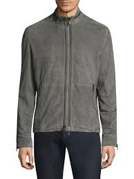 john varvatos suede jacket grey men apparel coats jackets leather shearling john varvatos