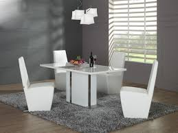 Dining Room   Furniture Contemporary White Dining - Modern white dining room sets