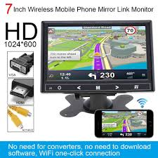 Universal DC 12V <b>800 x 480 7 inch</b> Car Monitor Bright Color HDMI ...