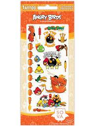 татуировки переводные дракон Angry Birds