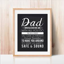 Dad Quote Sign Dad Gift Best Dad Gift Dad Chalkboard Print Unique Gift For Dad And Perfect