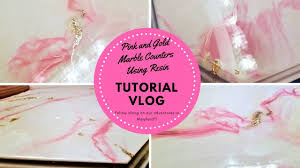 diy marble resin countertops wow that was easy pink gold gold leaf