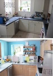 Sponge Painting Countertops A Modern Diy Kitchen Makeover On A Budget Love The Plywood