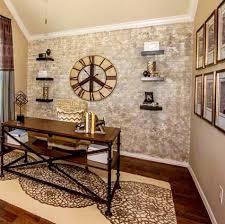 Custom Faux Brick Walls rustic-home-office