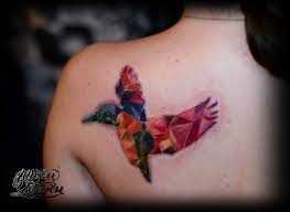 татуировка колибри цветная стекло Tattoos Tattoolife Tattooing