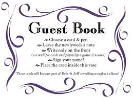 Guest Sign Book