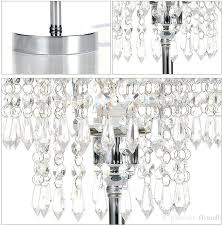 chandelier night light chrome round crystal chandelier bedroom nightstand table lamp led night light bedside desk lamps for wedding clear chandelier night