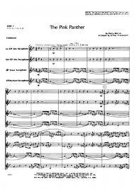alto sax pink panther sheet music henry mancini the pink panther saxophone quartet presto sheet music