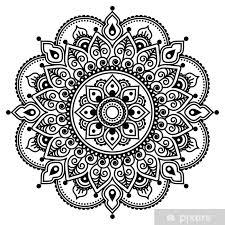 Fototapeta Vinylová Mehndi Indický Henna Tetování Vzor Nebo Pozadí
