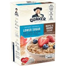 45 calories of milk, 2%, with added nonfat milk solids, without added vit a, (0.33 cup). Amazon Com Quaker Instant Oatmeal Lower Sugar Maple Brown Sugar 10 Count 1 19oz Boxes Pack Of 6 Oatmeal Breakfast Cereals