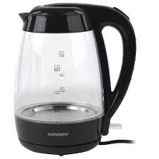 Купить <b>Чайник SONNEN</b> KT-200BK, 1,7 л, 2200 Вт, закрытый ...