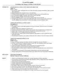 Resume Consultant Chicago Consultant Associate Resume Samples Velvet Jobs 1