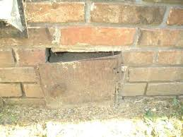 fireplace cleanout door chimney home depot
