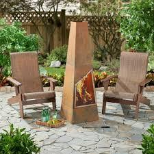 hadlee steel outdoor wood burning chiminea fireplace fire pit patio heater